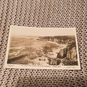 The-Coast-amp-Caves-amp-Cape-Cornwall-Lands-End-Vintage-Real-Photo-Postcard