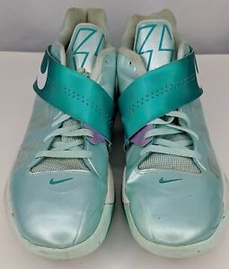 8c128ac165e4 Nike Zoom Kevin Durant KD IV 4 Easter Candy Green White Grey 473679 ...