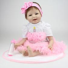 22'' Bebe Reborn Baby Silicone Vinyl Girls Doll Toy Reborn Babies Dolls for Sale