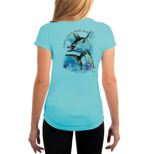 SAND.SALT.SURF.SUN Tuna Women/'s UPF 50 UV//Sun Protection Short Sleeve T-Shirt