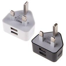 UK Mains Wall Plug Travel Adapter Charger 2 AMP Dual USB iPhone iPad Samsung HTC