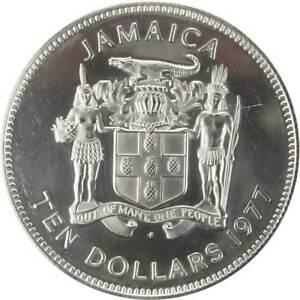 1977-Jamaica-Admiral-George-Rodney-Ten-Dollars-Silver-Coin