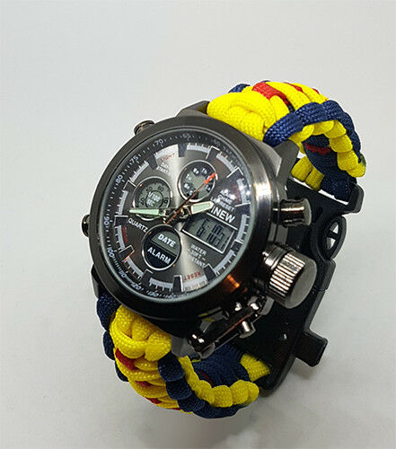 Paracord Watch in The Royal Electrical & Mechanical Engineers (REME) Colours