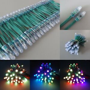 500pcs-Green-Wire-12V-WS2811-RGB-LED-Pixel-Full-Color-Diffused-12mm-Light-Round