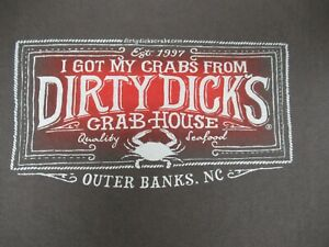 I-GOT-MY-CRABS-FROM-DIRTY-DICKS-CRAB-HOUSE-OUTER-BANKS-NC-GRAY-LARGE-SHIRT-F1276