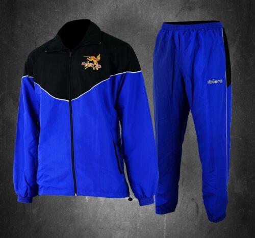 ISLERO Sports Mens Tracksuit Set Gym Jogging Running Zipper Trouser Casual