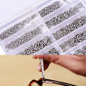 1000pcs Assorted Screws For Watch Eye Glasses Watchmaker Repair Part Tool Ls