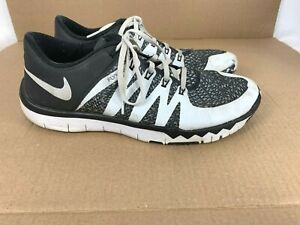 new product 9f8c7 964b8 Details about Nike Free Trainer 5.0 V6 Flywire Shoes size 10.5 Men Sneakers  Black White 723939