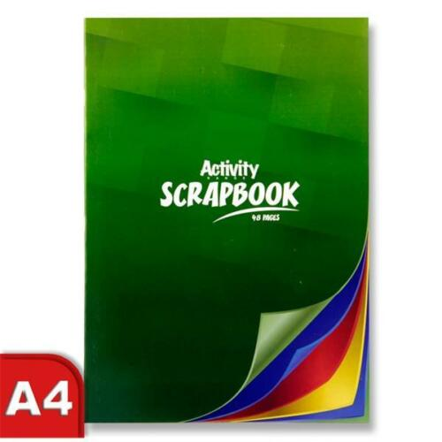 ScrapBook Colouring 48 Pages School Clipping Sticking Album Cutting CardC3264588