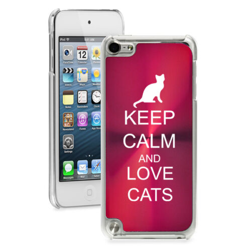 For Apple iPod Touch 4th 5th 6th Hard Case Cover Keep Calm  Love Cats