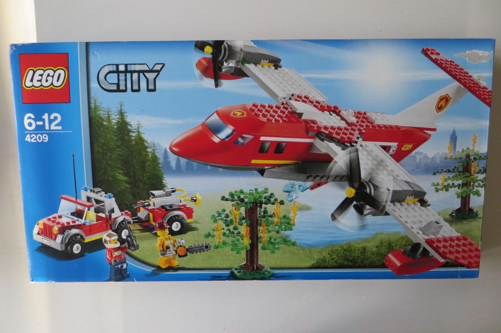 Lego New Sealed 4209 Fire Plane City