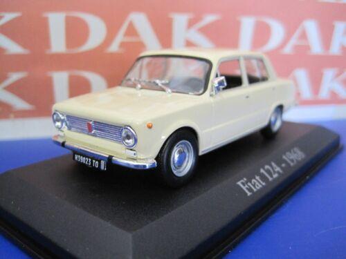 Die cast 1//43 Modellino Auto Fiat 124 Berlina 1968