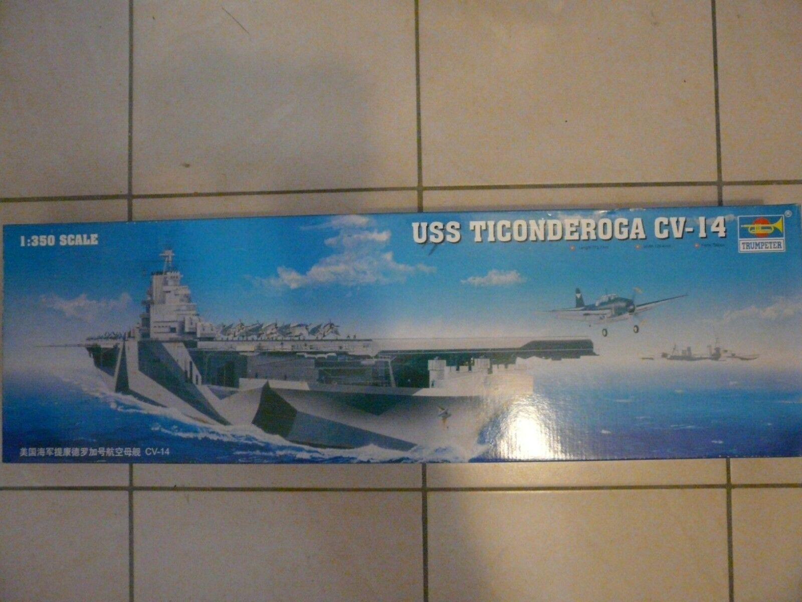 Maquette Bateau 1 350 Trumpeter Porte-avions USS Ticonderoga Ref 05609