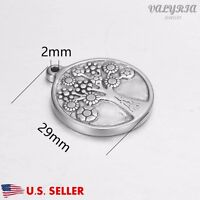 Wholesale Stainless Steel Tree Of Life Charm Pendant Jewelry Supplies 29x25mm