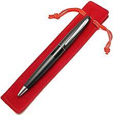 Pilot Mr Retractable Ballpoint 10 Mm Tip Velvet Pen Pouch Blue Ink Pen