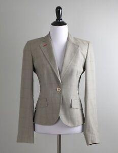 PAUL SMITH Black Label $695 Womens Plaid Lined Cotton Blazer Jacket Top Size 40