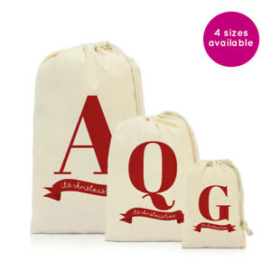 Christmas Gifts 2019 For Her.Details About Personalised Letter Christmas Xmas Gifts Gift Sack Bag Stocking For Him Her 2019
