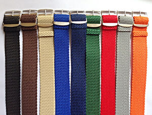 Cinturini-Orologio-in-Nylon-Vintage-Nato-Perlon-18-20-mm-Watch-Straps