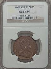 1907 British Straits Settlements Edward VII Large Cent- NGC AU53