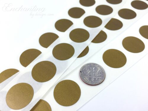 "50 Scratch Off Labels .70/"" Round Gold Stickers"