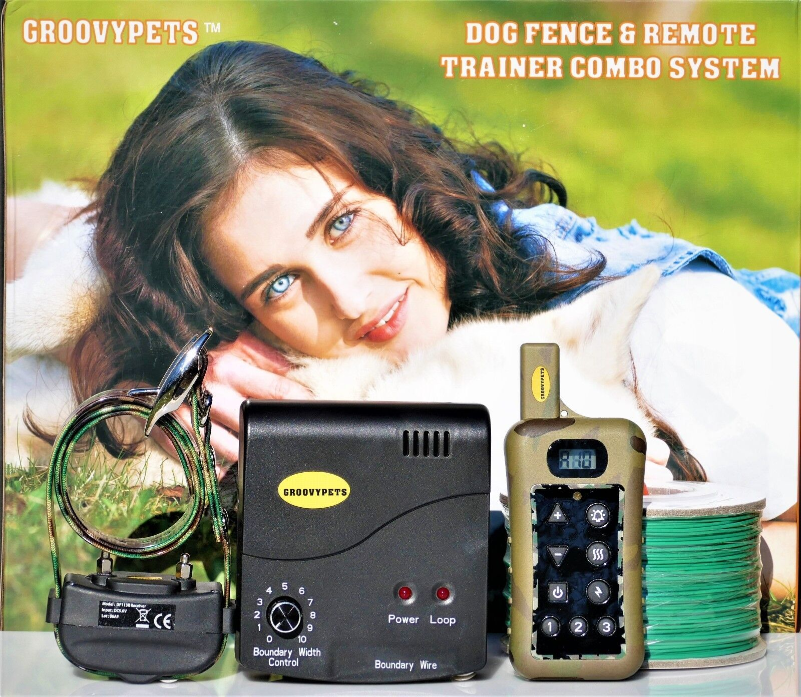 Underground Dog Containment Fence Remote Shock Collar No Bark  Hunting Trainer