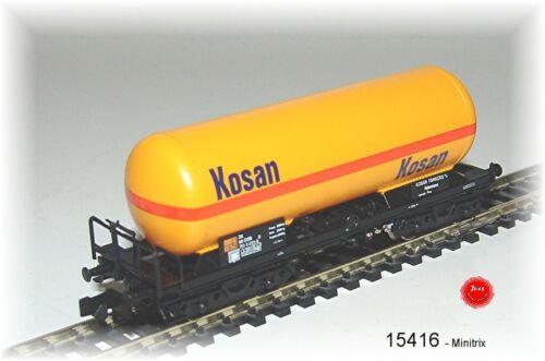 """Trix Minitrix 15416 Druckgas-Kesselwagen /""""KOSAN/"""" der DSB #NEU in OVP#"""