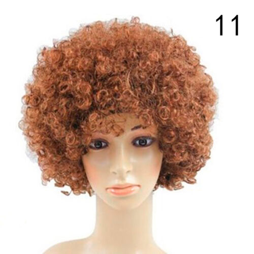 A9I0 80s CURLY AFRO WIG MULTI COLOUR PARTY CLOWN FUNKY DISCO KIDS CHILDS Pro