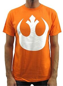 Star-Wars-White-Rebel-Logo-Orange-Men-039-s-T-Shirt-New