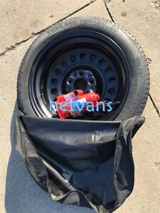 kit roue de secours galette 17 pour renault megane 3 4 avec cric cl f et sac ebay. Black Bedroom Furniture Sets. Home Design Ideas