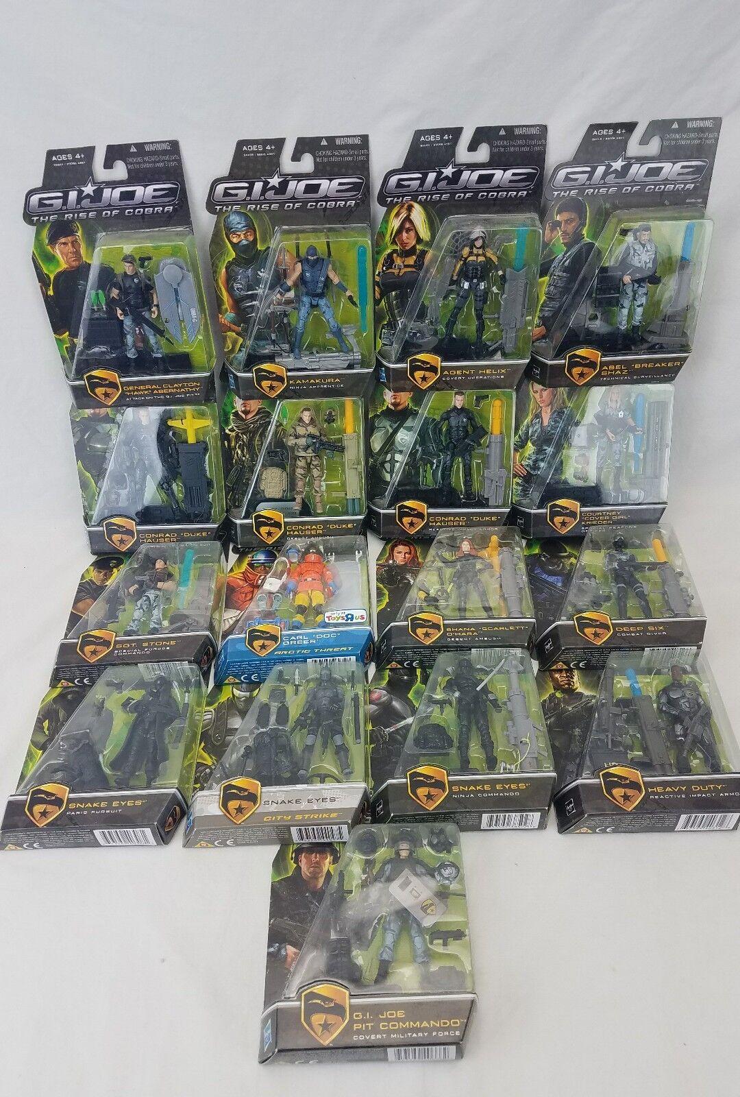 G.I. Joe Rise of Cobra Hasbro Action Figures Collection Lot de 17 film