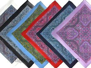 NEW-S-Paisley-Print-Bandana-Scarf-Bikers-5-Colours-Middle-Eastern-60s-21-034-x-21-034