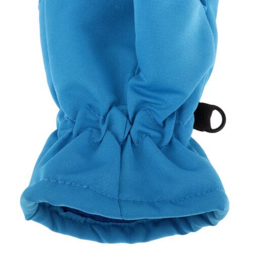 Boys Girls Mitts Waterproof Winter Sports Mittens Ski Snow Gloves Blue S