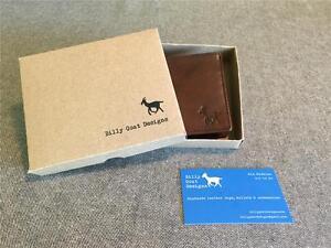 Billy-Goat-Designs-Leather-Classic-Bifold-W2-Wallet-men-credit-card-cash-Men-039-s