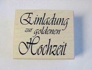 Das Bild Wird Geladen Stempel Einladung Zur Goldenen Hochzeit  Embossing Karten Individuell