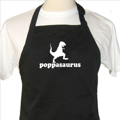 popposaurus fathers and grandfathers barbecue novelty for dad Funny Apron