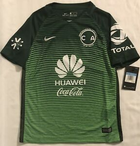 0d493a022 Image is loading Nike-Club-America-CENTENARIO-Soccer-Jersey-YOUTH-Size-