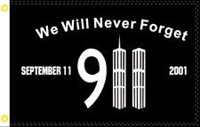 2/'x3/' Never Forget 9-11 Garden Flag September 11 911 USA 2x3 Feet 24x36 Inches