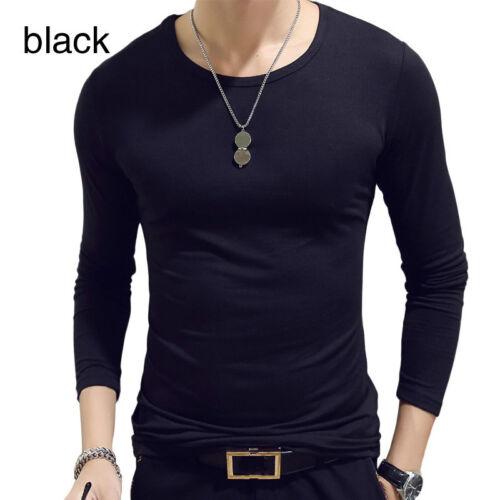 New Men Long Sleeve Casual Tank Top Undershirt Fitness Muscle Tee Blouse T-Shirt