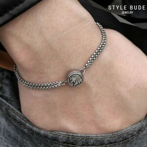 Loewe-Armkette-Loewenkopf-Armband-Armkettchen-Lion-Staerke-Kette-Symbol-Silber
