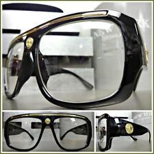 6ee06c3b02d2 CLASSIC VINTAGE RETRO HIP HOP Style Cleans EYE GLASSES Black Gold Fashion  Frame