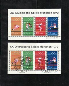Dual-1972-Bund-Olympische-Spiele-Muenchen-Mi-734-737-Block-8-ESST-53-BONN