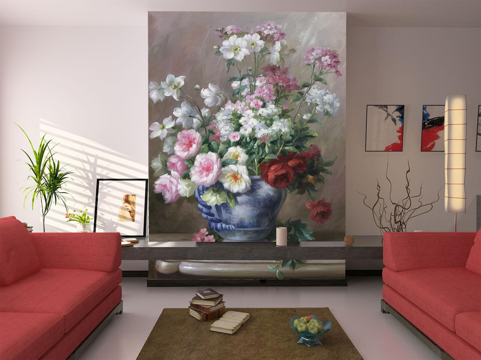 3D Flower Vase Paint 52 Wall Paper Wall Print Decal Wall Deco Indoor Mural Lemon