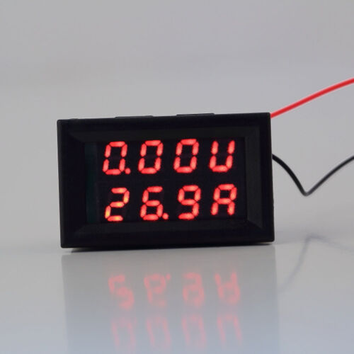 0-100V 10//50A LED Digital Voltmeter Spannungsanzeige Amperemeter Strommesser  C