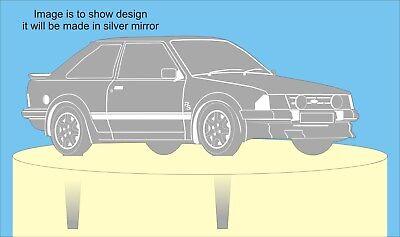Rs Turbo Ford Escort Personalizzato Specchio In Acrilico Cake Topper Matrimonio Compleanno-
