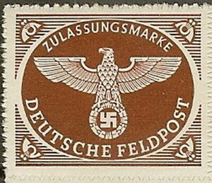 Stamp Germany Feldpost Mi 2 Sc MQ1 WW2 Emblem War Eagle Army Military MNG