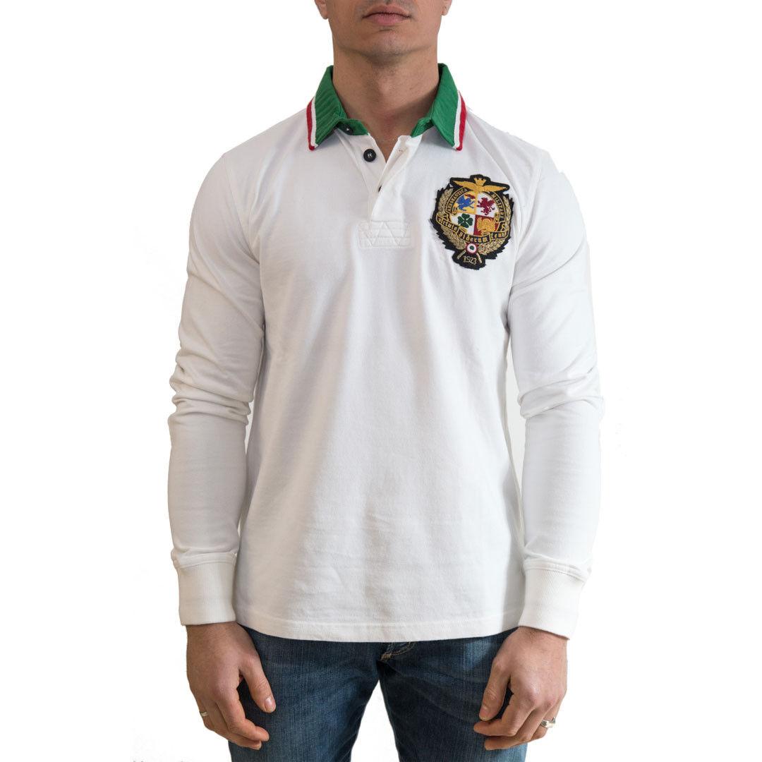 Aeronautica Militare Polo Men's Sweater Col White sz various -30 % OCCASION