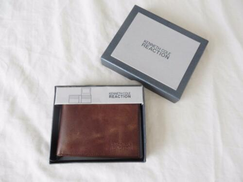 3 Styles! New Men/'s Kenneth Cole Reaction Wallets Brown or Black NIP