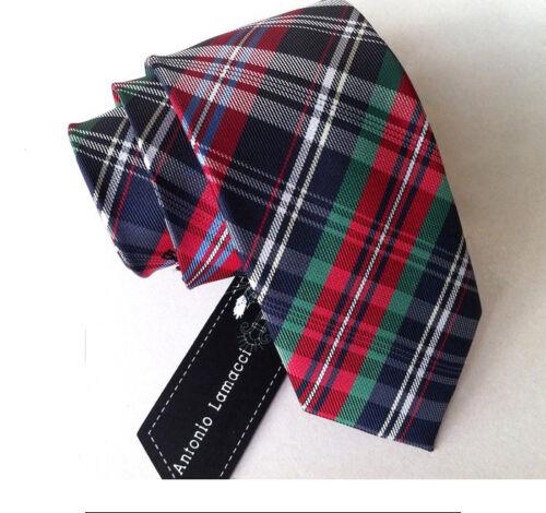 SJ19C Mens Fashion Skinny 100/% Silk JACQUARD Tie Silm Neck Ties Plaids Striped