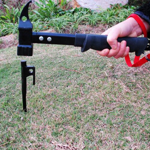 Outdoor Cast Steel Hammer Camping Tent Pegs Nail Heavy Duty hammer Puller Tools