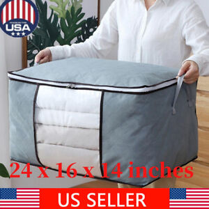 Foldable-Home-Closet-Storage-Bag-Organizer-Box-Anti-bacterial-Clothes-Quilt-US